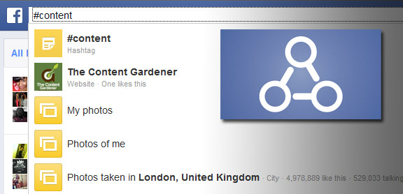 Facebook with Graph Search enabled.