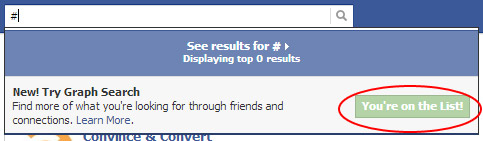 Facebook lets you know you are on the list.